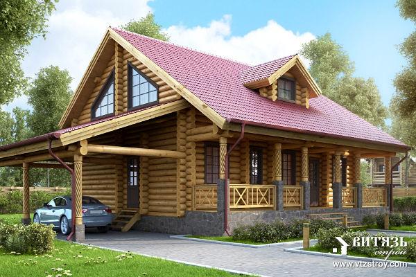Проект рубленного дома со вторым светом